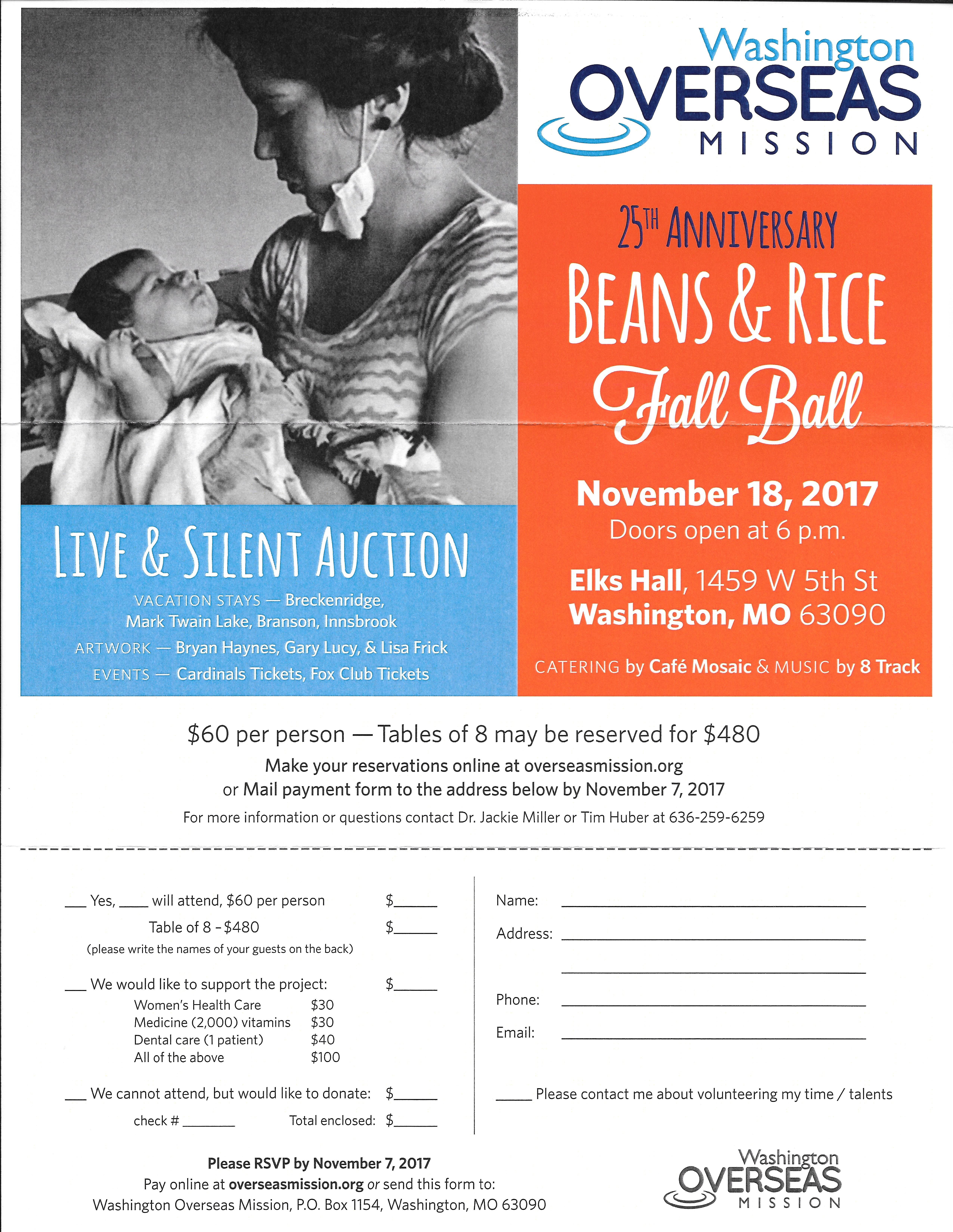 Washington Overseas Mission – 2017 Beans and Rice Ball